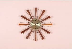 Westclox Ball and Inverse Ray Starburst Clock