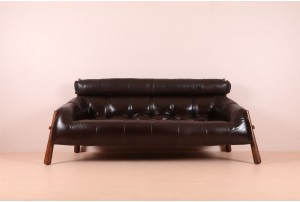 Percival Lafer 'MP-81' Leather Sofa