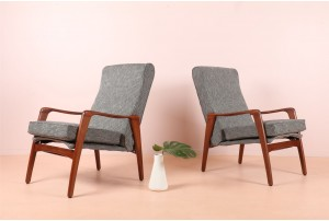 Pair of Fler 'E31' Armchairs by Fred Lowen