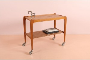 Mid-Century Teak Tea Trolley