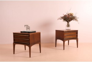 Pair of Lane 'Rhythm' Bedside Tables