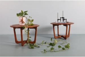 Pair of Lane 'Perception' Circular Side Tables