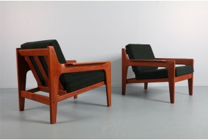 Pair of Arne Wahl Iversen Armchairs for Komfort Mobelfabrik