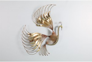 Curtis Jere Peacock Wall Sculpture