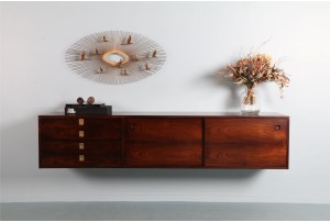 Archie Shine Rosewood Floating Sideboard