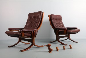 Pair of Danish DeLuxe Armchairs