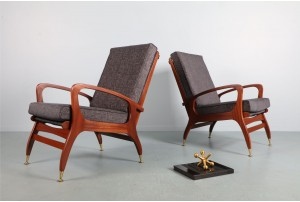 Pair of DON Curvaceous Armchairs