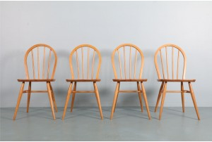 Four Iconic Ercol 'Windsor' Dining Chairs