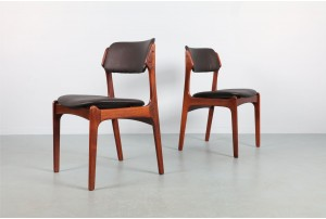 Six Erik Buch 'Model 49' Rosewood Dining Chairs