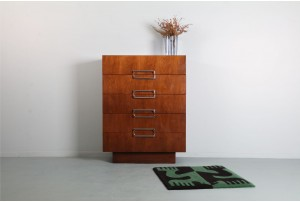 Monolithic American Walnut and Chrome Drawers