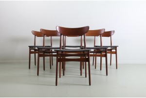Six Schionning & Elgaard Dining Chairs