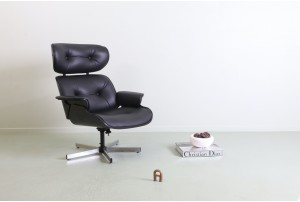 Selig Eames Style Leather Armchair