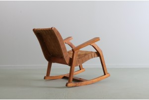 Early Mid Century Radiata Pine Rocking Chair