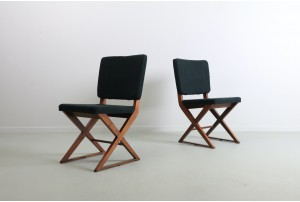 Pair of Ray Driver X Base Occasional Chairs