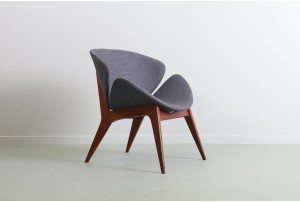 Mid Century Mahogany Shell Chair