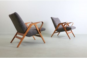 Pair of Czech František Jirák Armchairs for Tatra Nabytok