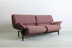 Rare Vico Magistretti Italian 'Veranda' Sofa for Cassina