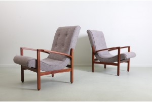 Pair of Mid-Century NZ Curved Seat Armchairs