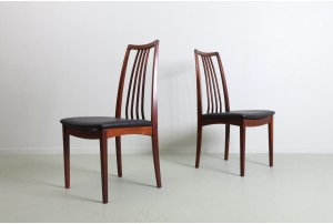 Six Elegant Danish Rosewood Dining Chairs