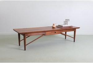 Sculpted Heritage Henredon Solid Walnut Coffee Table