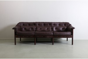 Deluxe Sven Ellekaer Leather Sofa for Coja
