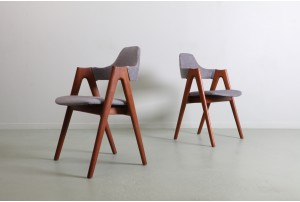 Six Kai Kristiansen 'Compass' Chairs for Schou Andersen