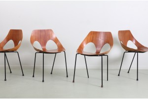 Four Rare Frank Guille 'Jason' Chairs by Kandya