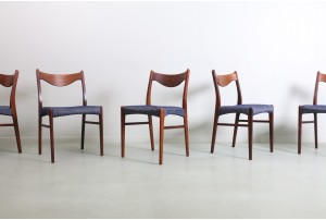 Six Arne Wahl Iversen 'GS61' Dining Chairs by Glyngore Stolefabrik