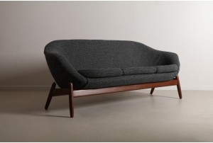 Highly Sculptural Mid Century Sofa by Madsen & Schubell (Attr)