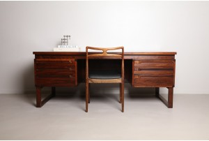 Deluxe and Substantial Mid Century Danish Executive Desk