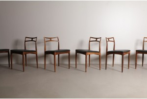 Six Chic Johannes Andersen 'Model 94' Dining Chairs by Christian Linneberg